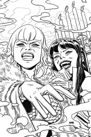 Vampirella / Red Sonja #9 (15 Copy Romero B&W Virgin Cover)