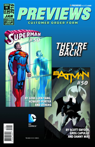 Previews #330: March 2016 Customer Order Form