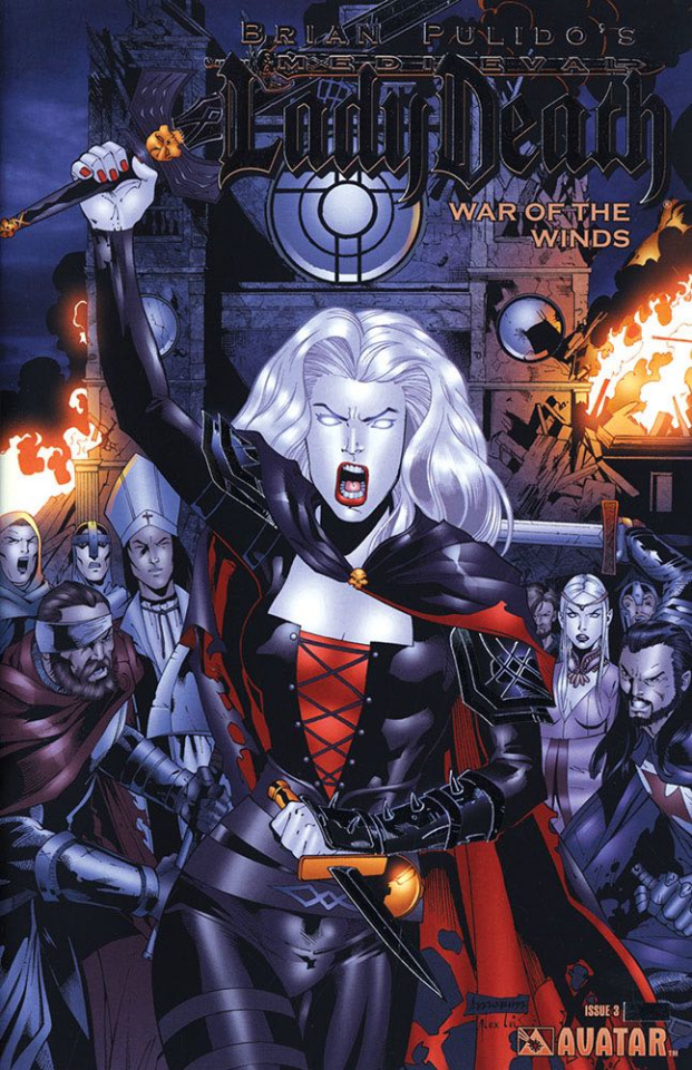 Medieval Lady Death: War of the Winds #3 (Platinum Foil Cover)