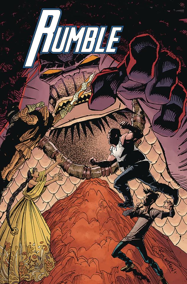 Rumble #13 (Wilson, Sienkiewicz, Stewart Cover)