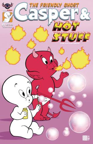Casper & Hot Stuff #1 (Wolfer Bubbles Cover)