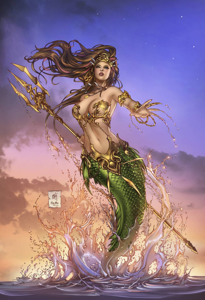 Grimm Fairy Tales: The Little Mermaid #5 (Krome Cover)