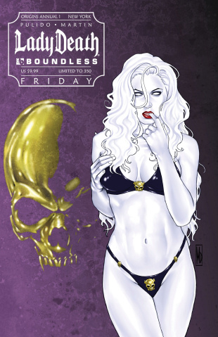 Lady Death Origins Annual #1 (New York Friday Cover)