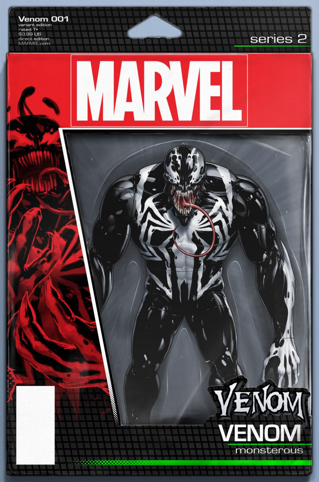 Venom #1 (Christopher Action Figure Cover)