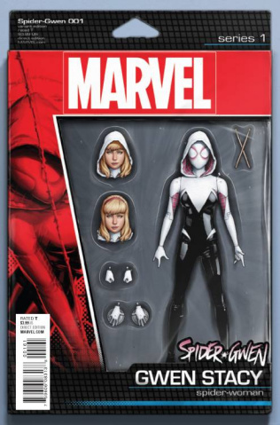Spider-Gwen #1 (Christopher Action Figure Cover)