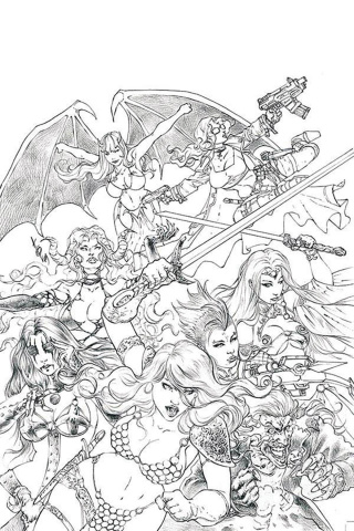 Red Sonja: Age of Chaos #1 (50 Copy Quah Sketch Virgin Cover)