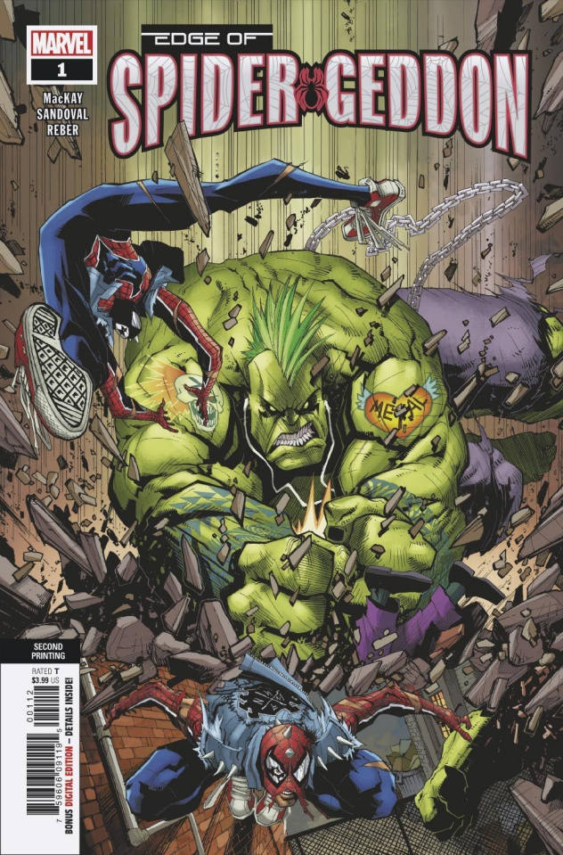 The Edge of Spider-Geddon #1 (Sandoval 2nd Printing)