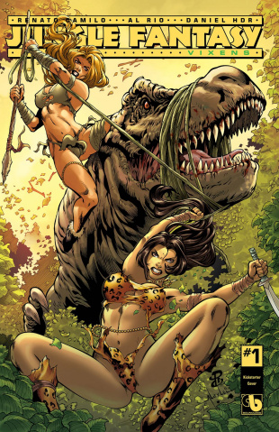 Jungle Fantasy: Vixens #1 (Kickstarter Cover)