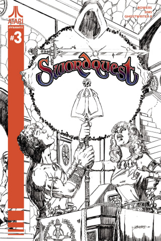 Swordquest #3 (10 Copy Perez B&W Cover)