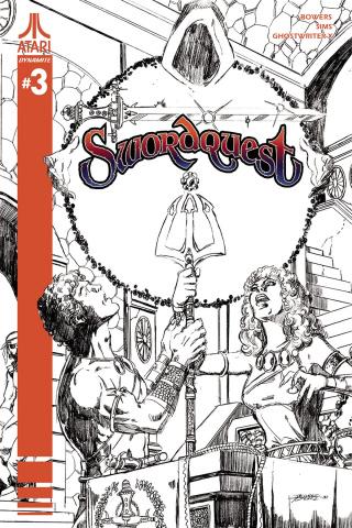 Swordquest #3 (10 Copy Perez B&W Cover)