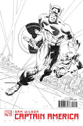 Captain America: Sam Wilson #13 (Steranko Captain America Cover)