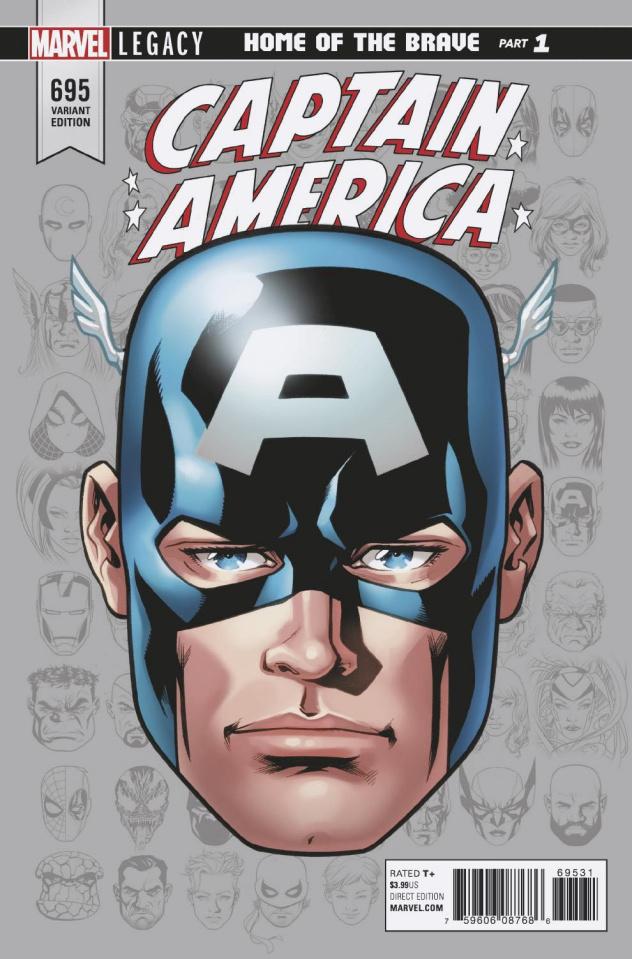 Captain America #695 (McKone Legacy Headshot Cover)
