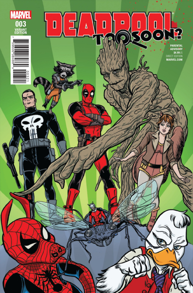 Deadpool: Too Soon? #3 (Allred Cover)