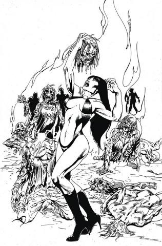 Vengeance of Vampirella #14 (21 Copy Castro B&W Virgin Cover)