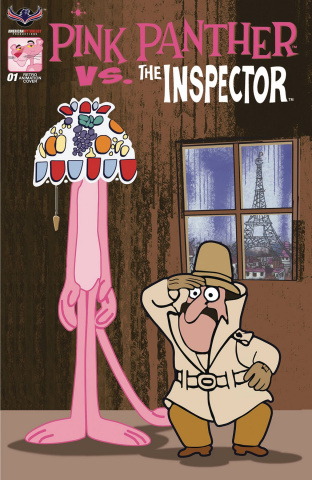Pink Panther vs. The Inspector #1 (Retro Animation Cover)