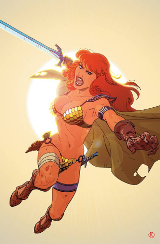 Red Sonja: The Superpowers #4 (25 Copy Kano Virgin Cover)
