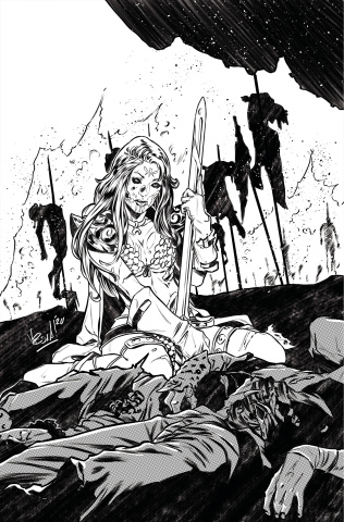 Red Sonja: The Superpowers #2 (7 Copy Federici B&W Virgin Cover)