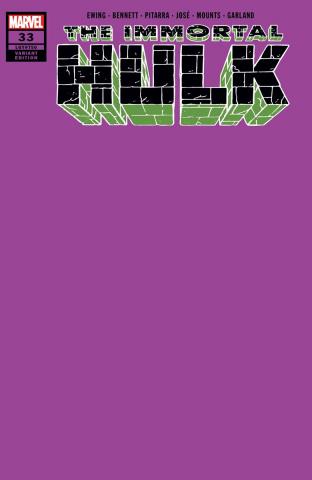 The Immortal Hulk #33 (Purple Cover)