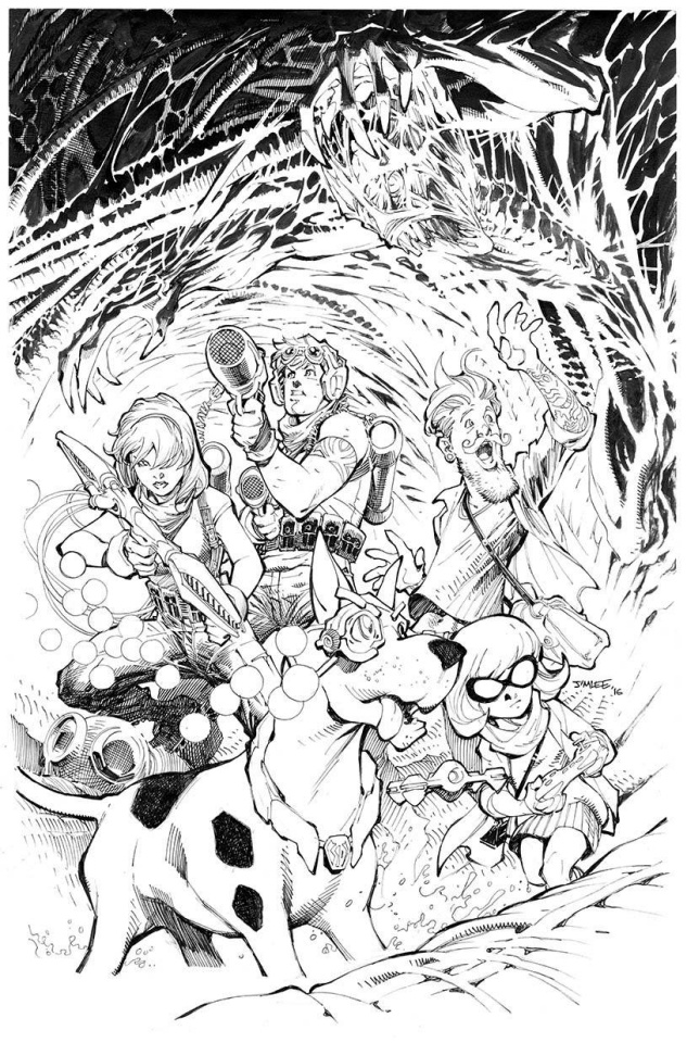 Scooby: Apocalypse #1 (Coloring Book Cover)