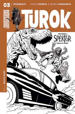 Turok #3 (20 Copy Lopresti B&W Cover)