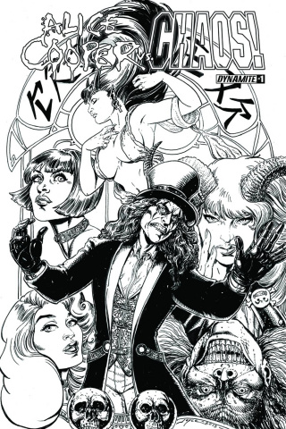 Alice Cooper vs. Chaos! #1 (25 Copy Chin B&W Cover)