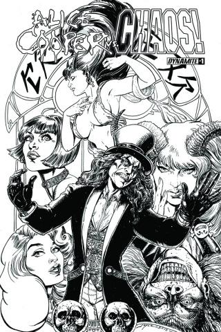 Alice Cooper vs. Chaos! #1 (25 Copy Chin B&W Cover)