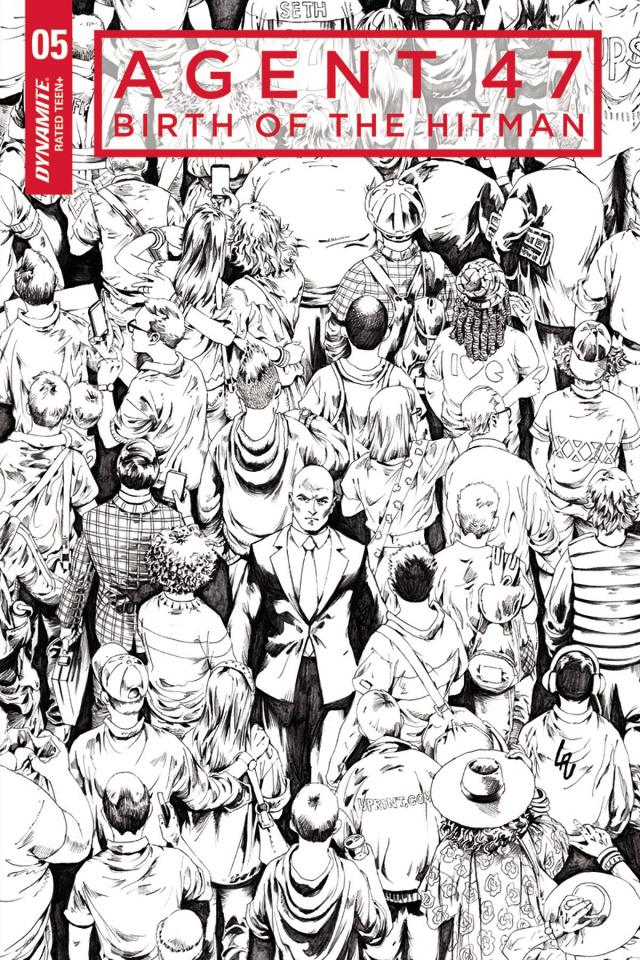 Agent 47: Birth of the Hitman #5 (10 Copy Lau B&W Cover)