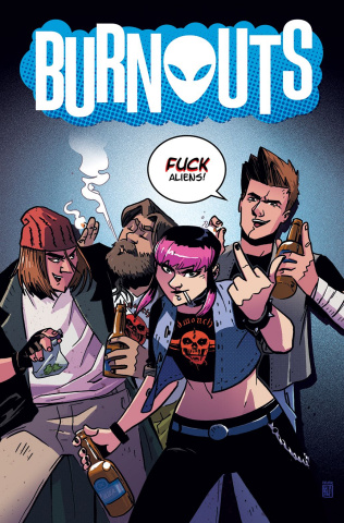 Burnouts #1 (CBLDF Charity Uncensored Cover)