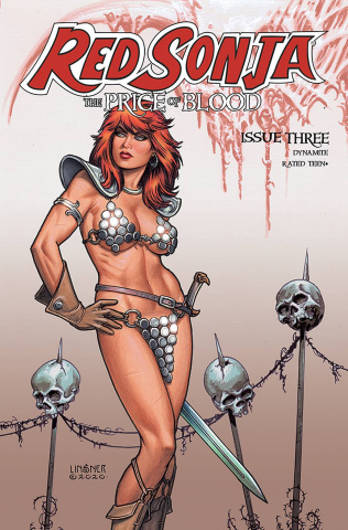 Red Sonja: The Price of Blood #3 (CGC Graded Linsner Cover)