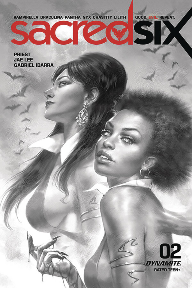 Sacred Six #2 (25 Copy Parrillo B&W Cover)