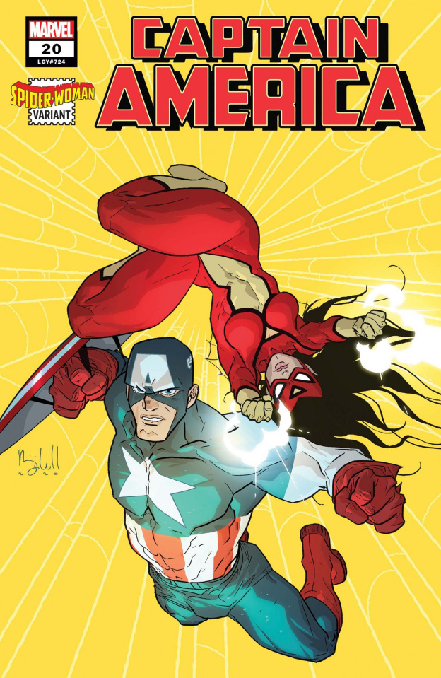 Captain America #20 (Caldwell Spider-Woman Cover)