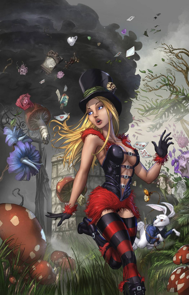 Grimm Fairy Tales: Wonderland - Asylum #3 (Ehnot Cover)