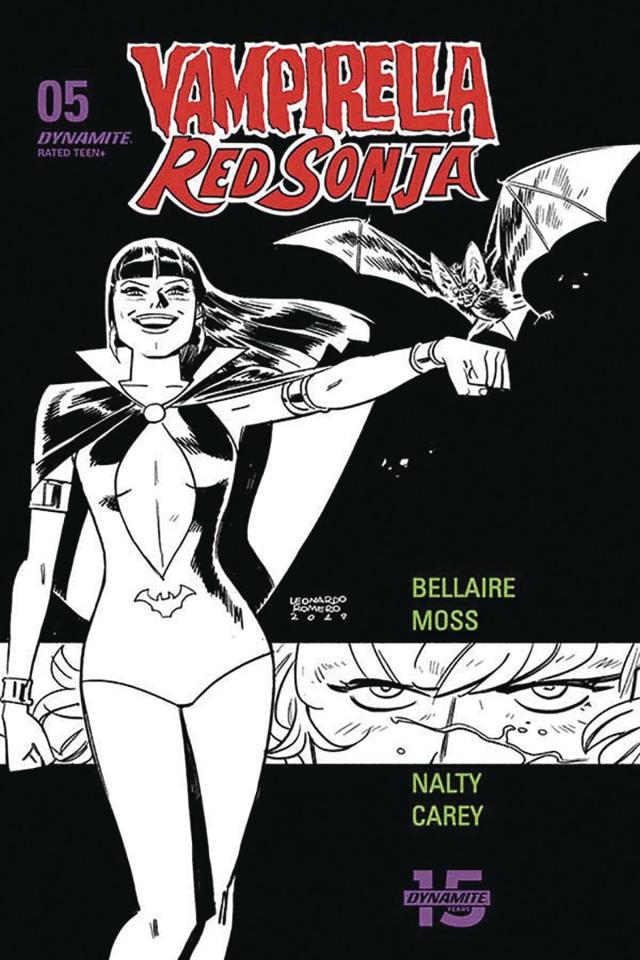 Vampirella / Red Sonja #5 (40 Copy Romero & Bellaire B&W Cover)
