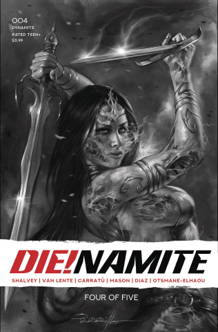 DIE!namite #4 (45 Copy Parrillo Living Dead Grayscale Cover)