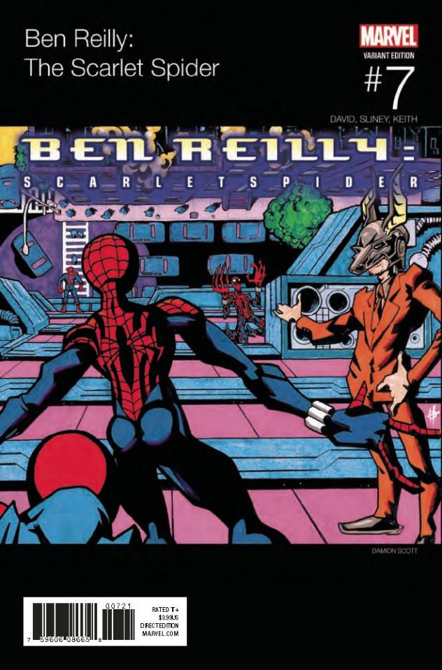 Ben Reilly: The Scarlet Spider #7 (Scott Hip Hop Cover)
