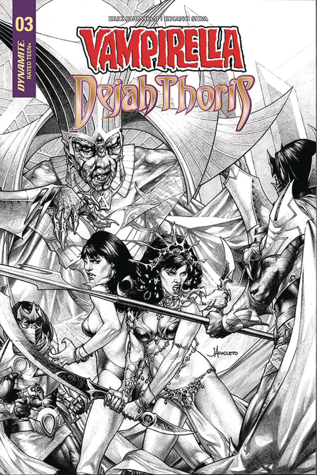 Vampirella / Dejah Thoris #3 (20 Copy Anacleto B&W Cover)