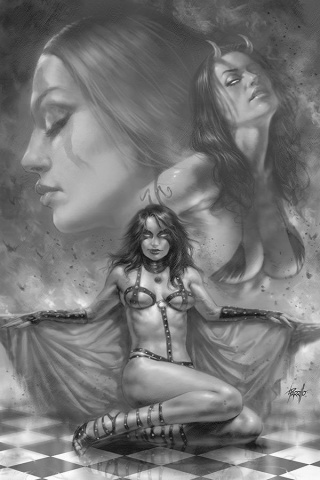 Red Sonja: Age of Chaos #2 (15 Copy Parrillo B&W Virgin Cover)