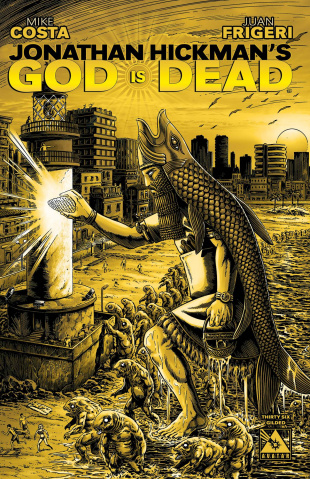 God Is Dead #36 (Gilded Retailer Cover)