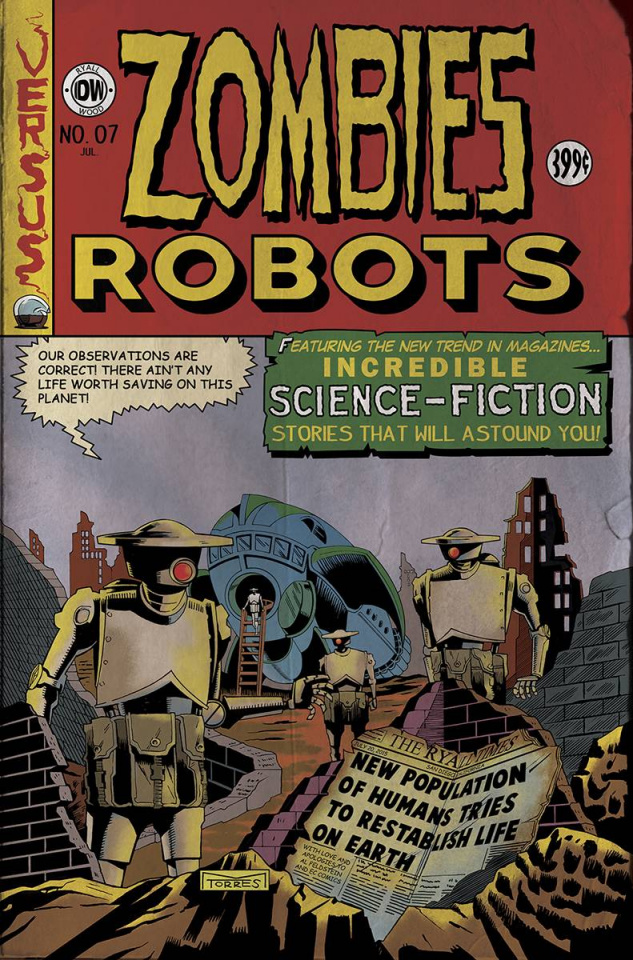 Zombies vs. Robots #7 (EC Subscription Cover)