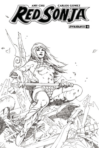 Red Sonja #4 (30 Copy Rubi B&W Cover)