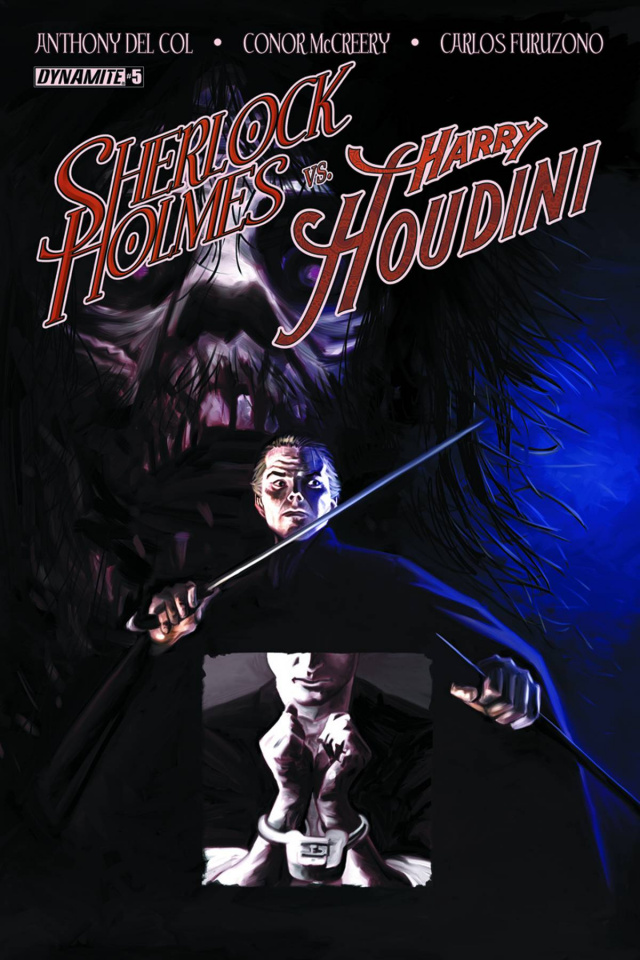 Sherlock Holmes vs. Harry Houdini #5 (Worley Cover)