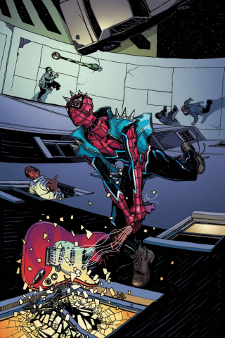 The Edge of Spider-Geddon #1 (Hamner Cover)