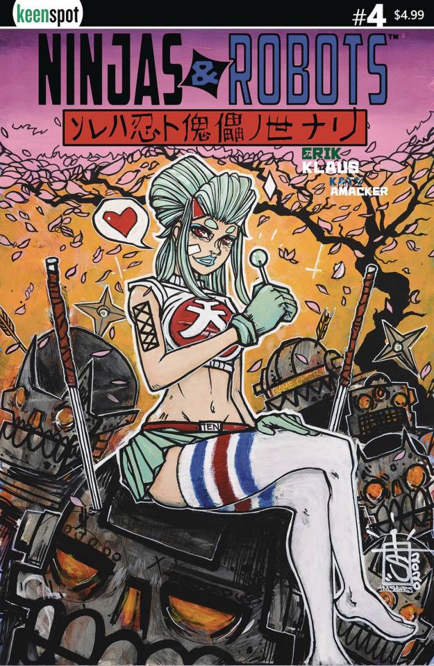 Ninjas & Robots #4 (TM Showers Cover)