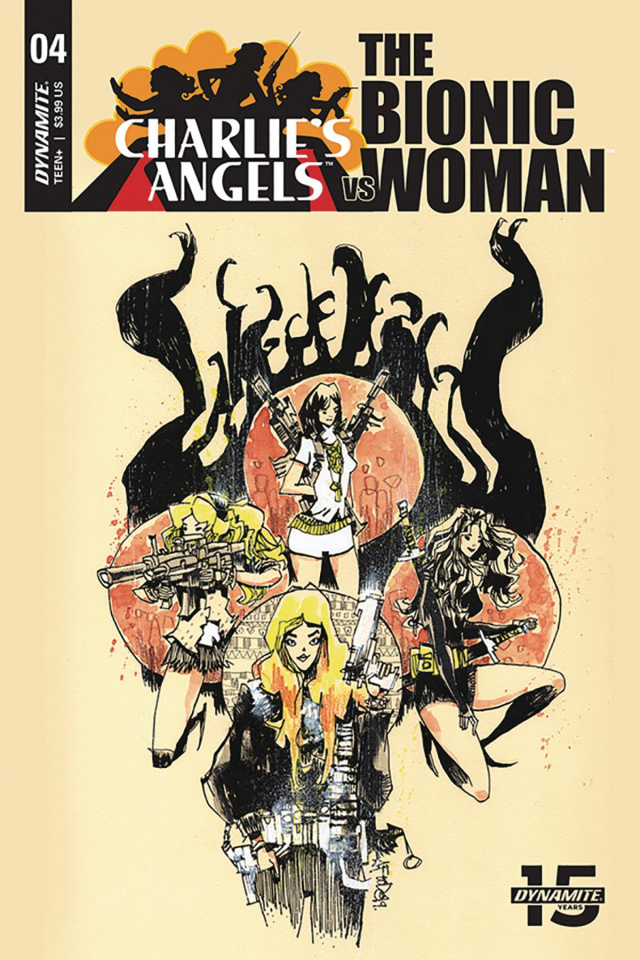 Charlie's Angels vs. The Bionic Woman #4 (Mahfood Cover)