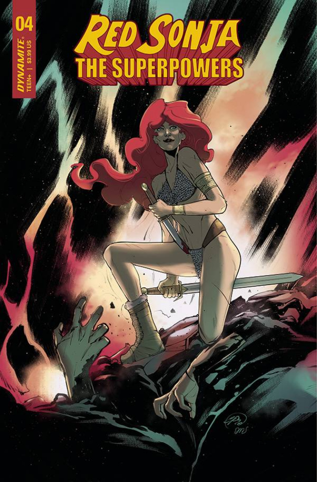 Red Sonja: The Superpowers #4 (Pinna Cover)