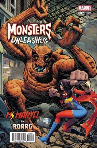 Monsters Unleashed! #2 (Art Adams Moster vs. Hero Cover)