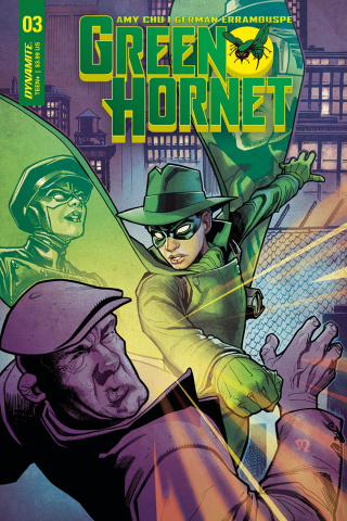 Green Hornet #3 (Roux Cover)