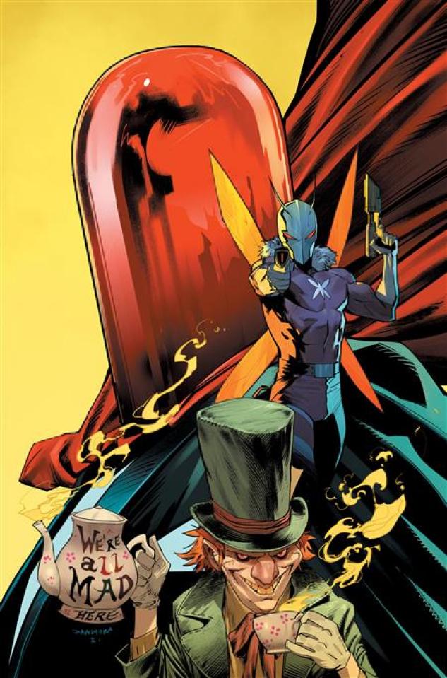 Gotham City Villains: Anniversary Giant #1 (Dan Mora Hatter Moth Red Hood Card Stock Cover)