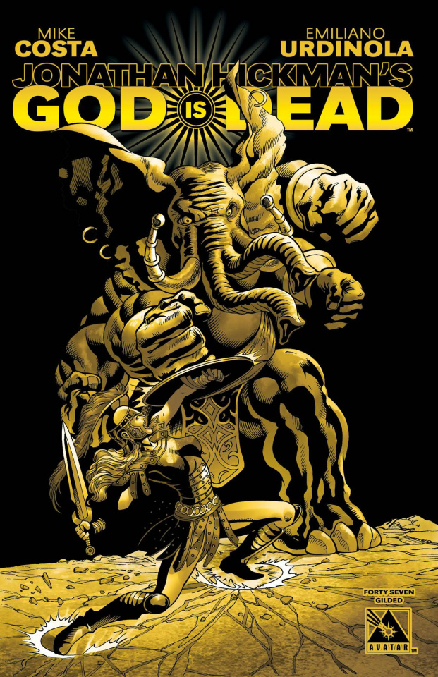 God Is Dead #47 (Gilded Retailer Order Incentive Cover)