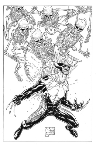 Death of Wolverine #1 (Quesada Sketch Cover)